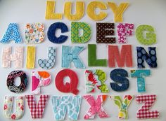 scrap fabric alphabet for baby's room