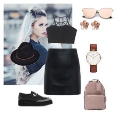 """""""Untitled #703"""" by gerdux16 on Polyvore featuring Daniel Wellington, McQ by Alexander McQueen, Valentino and Allurez"""