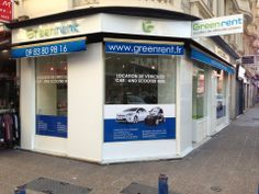 "Agence de location automobile Greenrent ""Nice Centre""."
