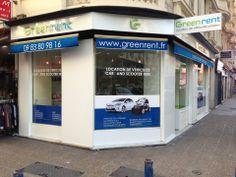"Agence de location automobile Greenrent ""Nice Centre""."