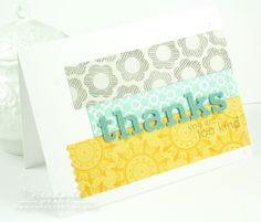 random strips unified with chipboard letters