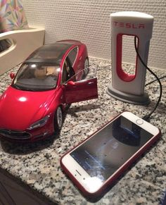 497320c18a65 Tesla Phone Charger - Tesla Supercharging Station 3D Printed Phone Charger  Tesla Charging Stations