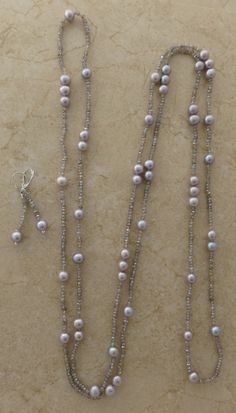 Freshwater Pearls and Sparkling Mystic Labradorite Necklace