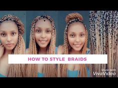 💛 HOW TO STYLE BOX BRAIDS 💜💚💕| ROBIN'S GLARE💜 | SOUTH AFRICAN YOUTUBER - YouTube M Instagram, Style Box, Braid Styles, Box Braids, Robin, African, Youtube, Robins, African Braids