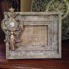 Michelle Butler Designs Picture Frames Handpainted & Jeweled 💕SHOP💕 www. Antique Picture Frames, Picture Frame Decor, Marco Diy, Iron Orchid Designs, Shabby Chic Crafts, Frame Crafts, My New Room, Altered Art, Framed Art