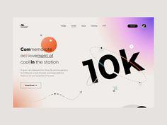 10K - Zcool by Man King on Dribbble Web Design, Page Layout Design, Header Design, Web Layout, Site Design, Ui Design Inspiration, Ui Web, Graphic Design Posters, Interface Design