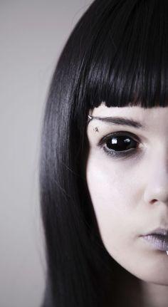 Black Sclera contact lenses.