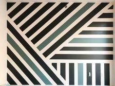 Geometric Painted Wall Treatment   Kate's Studio Makeover   Brooklyn Limestone