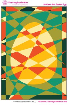 Modern Art Hidden Easter Egg - free printable/download, explore colour and design