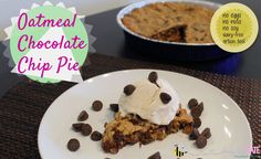 Oatmeal Chocolate Chip Cookie Pie {Allergy-Friendly} | Happy Pi(e) Day! A delicious chocolate chip pie that is egg-free, nut-free, soy-free with an easy dairy-free option too! (busybeekate.com)