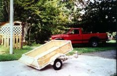 Trailer from Bill in Tennessee. Pivots on Axle for Dumping.