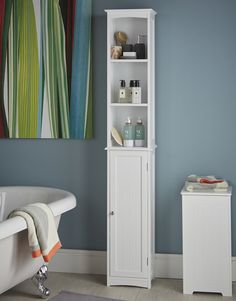 Slimline Tall Bathroom Storage Cabinet