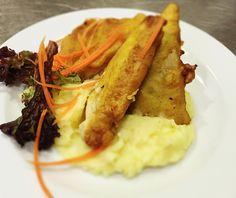 Denné menu Vranov | Vyprážaný tofu syr v zeleninovom cestíčku, zemiaková kaša - reštaurácia Hotel Patriot***