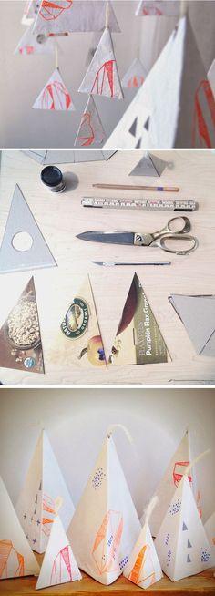 DIY Paper Mache Mobile Display/Backdrop