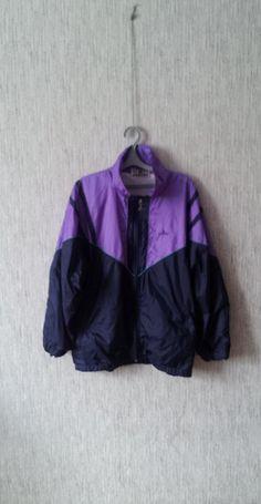 Vintage 90s Windbreaker Jacket Blue Purple by TinutesCreations, $25.00