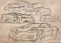 Car design sketches - by Juhan Kim Renault