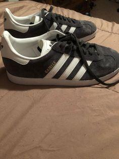 new arrivals 2da83 b68c0 adidas gazelle gray W9.5M7.5 fashion clothing shoes