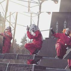 Slipknot- Corey Taylor, Mick Thompson, and Shaun Crahan aka Clown