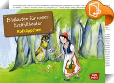 """Rotkäppchen    ::  Die beliebten Bildkartensets zu den Märchen der Brüder Grimm gehen in die dritte Staffel. Ob """"Sterntaler"""", """"Rotkäppchen"""" oder """"Die Bremer Stadtmusikanten"""" – die Märchen bieten wieder frischen Stoff für das Erzähltheater in Kindergärten, Schulen und Bibliotheken. Die 12-teiligen Serien wurden von Petra Lefin mit viel Liebe zum Detail im extragroßen DIN-A3-Format illustriert. So können die Kinder Bild für Bild die Geschichte nacherzählen, ohne dabei den roten Faden zu ..."""