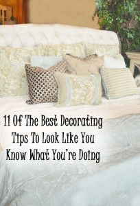 11 of the best decorating tips to look like you know what you're doing.