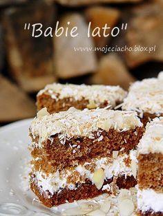 Babie lato Polish Desserts, Polish Recipes, No Bake Desserts, Polish Food, Cake Recipes, Dessert Recipes, Dessert Ideas, Traditional Cakes, Baked Goods