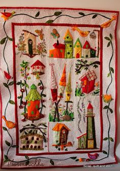 Scrap,quilt and stitch: Not sure I'd make a quilt - but it's great inspiration for a needlepoint sampler!