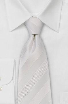 white on white striped tie