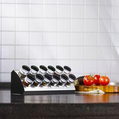 Trudeau Gewürzständer in Keilform mit Kräutern und Gewürzen, 12 Behälter, 13-teiliges Set, 12 x 33 x 12 cm: Amazon.de: Küche & Haushalt