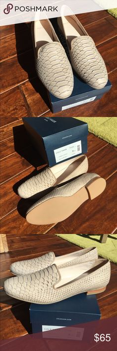 Cole Haan Loafer cream snake skin New in the box - Sabrina loafer ll snake skin print Cole Haan Shoes Flats & Loafers