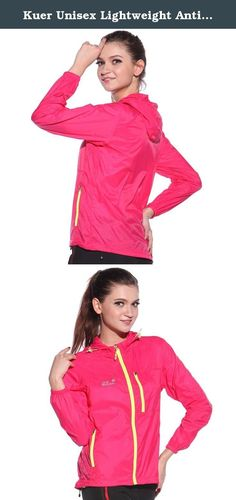 Kuer Unisex Lightweight Anti UV Quick Dry Skin Windbreaker Hooded Jackets(Rose Red,XL). This super lightweight jacket with the functions of Anti-static,wear-resisting,UV protection,radiation protection,windproof and breathable.Unisex,both men and women can dress it.Suitable for kinds of outdoor activities such as climbing,fishing,traveling,driving,hiking,cycling,camping etc SIZE NOTICE- 1.Asian size is smaller than US size, so please take the Tag size as standard. 2.Please check size note...