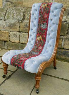 Victorian Slipper Chair - Antiques Atlas