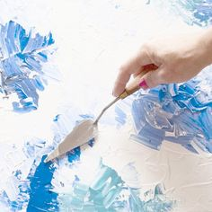 Easy step-by-step instructions on how to create your own abstract piece of art.