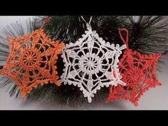 Вязание снежинки крючком - How to crochet snowflake - YouTube