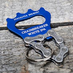 Everyone could use this Deschutes Brewery Chainbreaker White IPA bottle opener attached to a bike chain! Made from recycled bike parts in Mosier, OR, by the folks at Resource Revival.