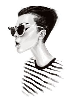 Chic black & white fashion illustration // Ariel Escalante