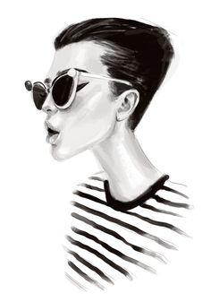 Chic black & white fashion illustration // Ariel Escalante