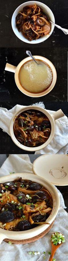 Chicken with Mushroom Clay Pot Rice | thewoksoflife #Chicken #Rice #Mushroom