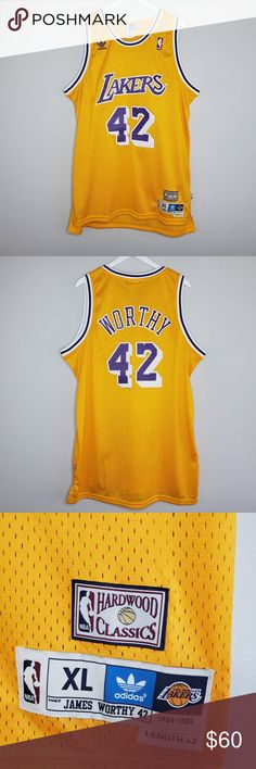 b7abd616255 LA Lakers  42 James Worthy Adidas Jersey LAS ANGELES LAKERS  42 JAMES WORTHY  HARDWOOD