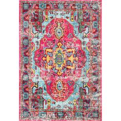 FREE SHIPPING! Shop Joss & Main for your Niya Rug in Pink. Features:Material: 100% Polypropylene friseeStyle: VintageMade in TurkeyThis area rug is perfect for high traffic areas, as it is very tightly woven and will only shed very lightly with continued useColors of rug: Yellow, Blue, Pink, Oran...