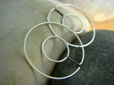 INFINITY Double HOOPS - Round- sterling silver - Reversible on Etsy, $44.00