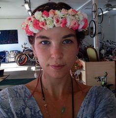 Flower Head Crown by ValleyCatDesigns on Etsy, $25.00