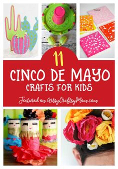 The best 11 cinco de mayo crafts for kids - celebrating cinco de mayo today Kids Crafts, Summer Crafts For Toddlers, Sand Crafts, Crafts For Kids To Make, Toddler Crafts, Preschool Crafts, Art For Kids, Maracas Craft, Mexico Crafts