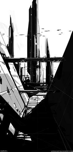 BLACK - A Sci-fi experiment by George Munteanu, via Behance