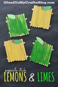 Popsicle Stick Lemons & Limes - Kid Craft