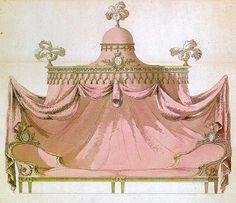 Image detail for -Les Français et les lits - Louis XV Baldaquin w/two daybeds