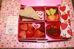 Valentine's Day bento laptop lunch