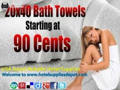 We at Hotel Supplies Depot in USA. Our extensive line includes a vast selection of hotel   supplies like blankets, pillows, towels, sheets, spa products, hotel shampoo, bedspreads,  indoor & outdoor furniture etc..