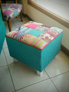 Puf patchwork Vanity Bench, Sewing, Furniture, Home Decor, Dressmaking, Decoration Home, Couture, Room Decor, Stitching