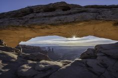 Good Morning - Mesa Arch is a pothole arch in Canyonlands National Park, Utah.