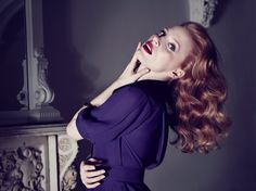 Jessica Chastain - Max Vadukul Photoshoot 2013 for Yves Saint Laurent